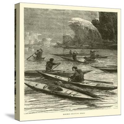 Eskimos Hunting Seals--Stretched Canvas Print
