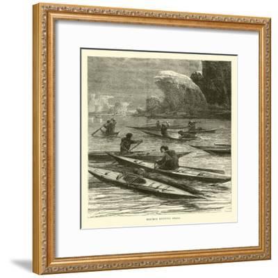 Eskimos Hunting Seals--Framed Giclee Print