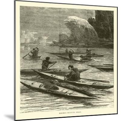 Eskimos Hunting Seals--Mounted Giclee Print