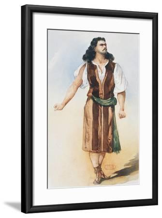 Samson, Costume Sketch-Charles Bianchini-Framed Giclee Print