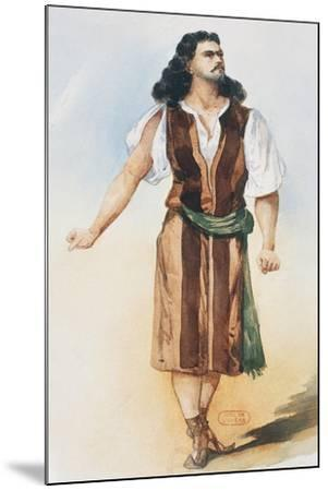 Samson, Costume Sketch-Charles Bianchini-Mounted Giclee Print
