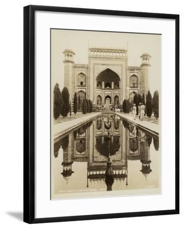 Main Gate to the Taj Mahal, Agra--Framed Photographic Print