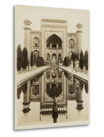 Main Gate to the Taj Mahal, Agra--Metal Print