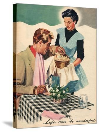 Magazine Illustration, 1954--Stretched Canvas Print