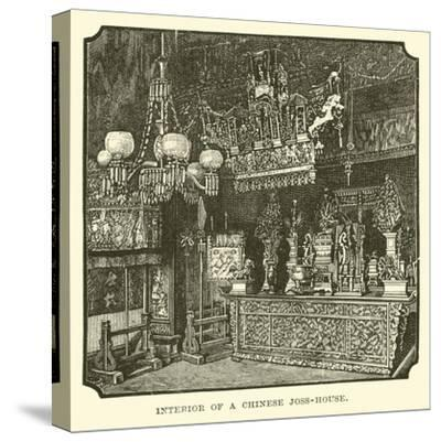 Interior of a Chinese Joss-House--Stretched Canvas Print