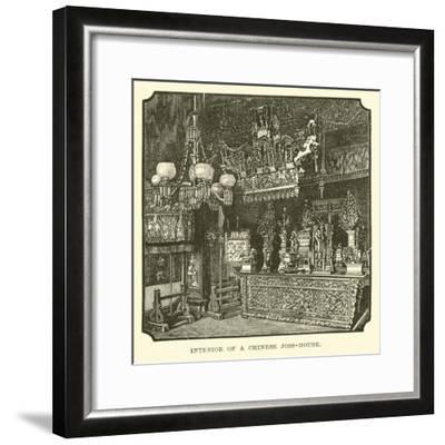 Interior of a Chinese Joss-House--Framed Giclee Print
