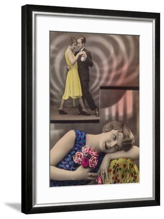 A Young Woman Daydreams About Dancing with a Man--Framed Photographic Print