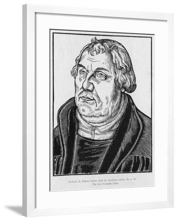 Martin Luther-Lucas the Elder Cranach-Framed Giclee Print