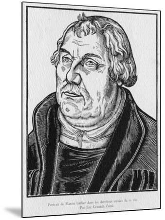 Martin Luther-Lucas the Elder Cranach-Mounted Giclee Print