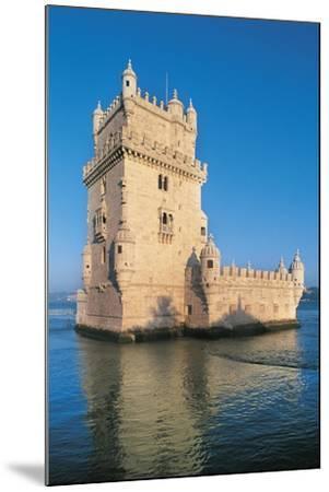 Portugal, Lisbon, Belem Tower--Mounted Giclee Print