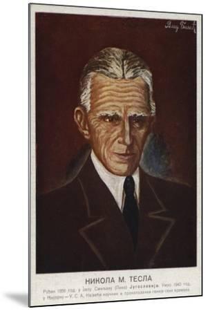 Nikola Tesla--Mounted Giclee Print