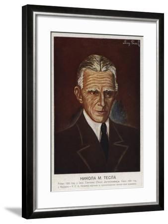 Nikola Tesla--Framed Giclee Print