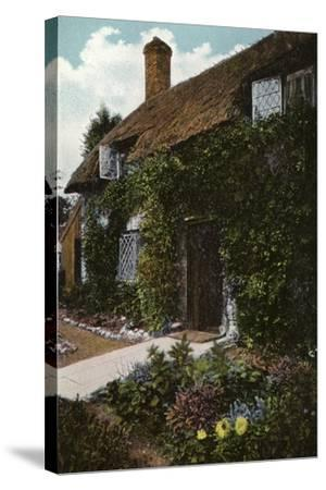 Little Jane's Cottage, Brading--Stretched Canvas Print