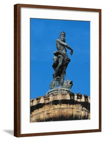 Statue of Neptune on Top of Fountain of Neptune--Framed Giclee Print