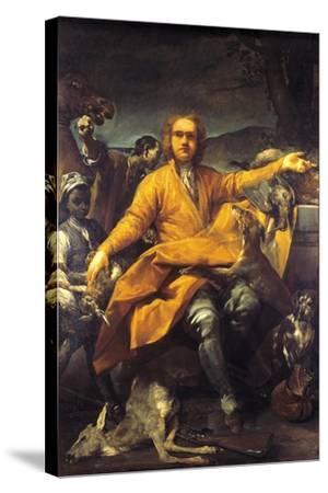 Portrait of Hunter-Giuseppe Maria Crespi-Stretched Canvas Print
