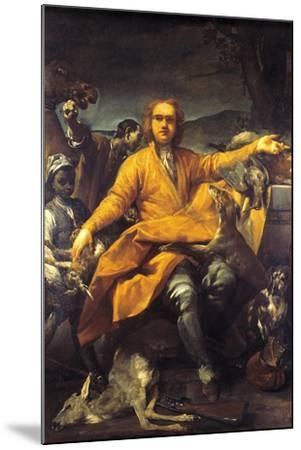 Portrait of Hunter-Giuseppe Maria Crespi-Mounted Giclee Print