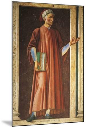 Portrait of Dante Alighieri--Mounted Giclee Print
