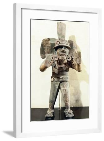 Anthropomorphic Clay Funerary Urn--Framed Giclee Print