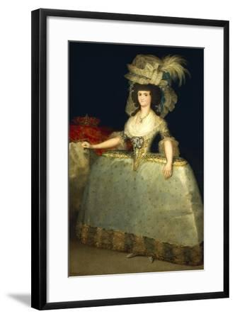 Portrait of Maria Luisa of Parma--Framed Giclee Print