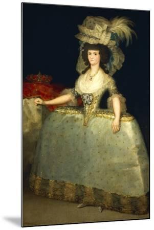 Portrait of Maria Luisa of Parma--Mounted Giclee Print