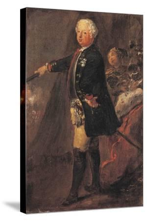 Portrait of Frederick William I of Prussia--Stretched Canvas Print