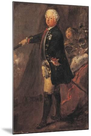 Portrait of Frederick William I of Prussia--Mounted Giclee Print