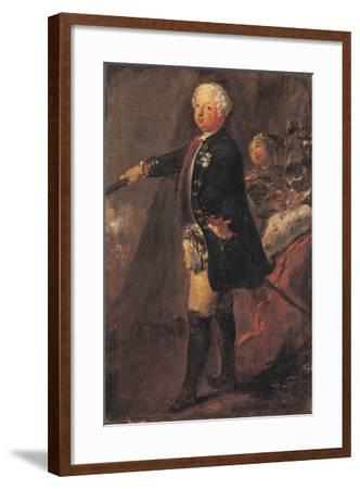 Portrait of Frederick William I of Prussia--Framed Giclee Print