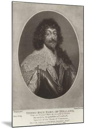 Henry Rich, Earl of Holland-Sir Anthony Van Dyck-Mounted Giclee Print