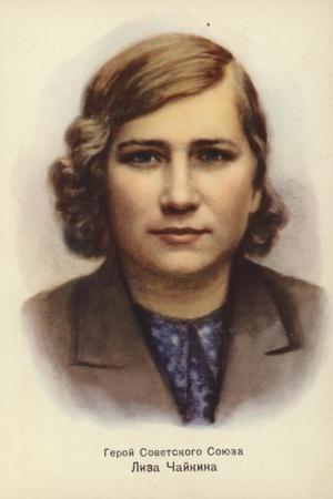 Lisa Chaikina, Russian World War II Partisan--Stretched Canvas Print