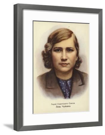 Lisa Chaikina, Russian World War II Partisan--Framed Giclee Print