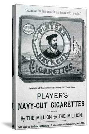 Player's Navy Cut Cigarettes, 20th Century--Stretched Canvas Print
