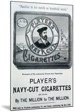 Player's Navy Cut Cigarettes, 20th Century--Mounted Giclee Print