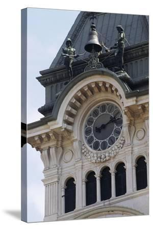 Detail of Bell Tower of Town Hall--Stretched Canvas Print