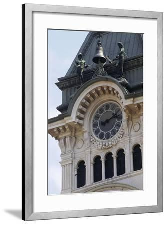 Detail of Bell Tower of Town Hall--Framed Giclee Print