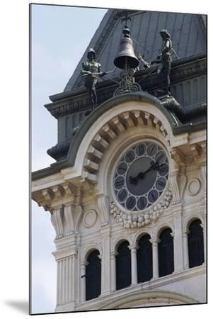 Detail of Bell Tower of Town Hall--Mounted Giclee Print