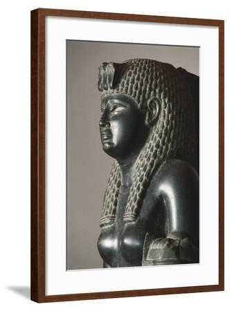 Basalt Statue of Of Cleopatra VII Horn of Plenty--Framed Giclee Print