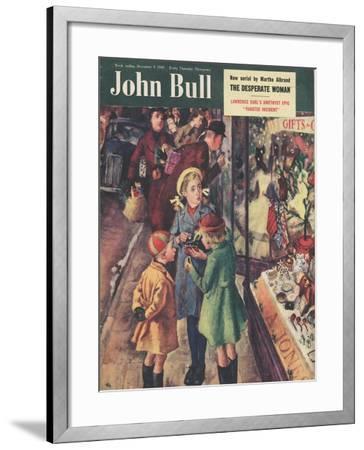 Front Cover of 'John Bull', December 1950--Framed Giclee Print