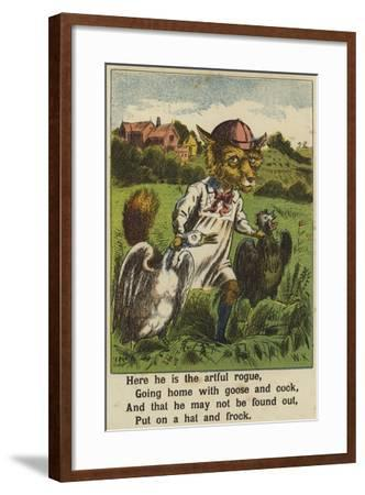 Squire Bull and the Fox--Framed Giclee Print