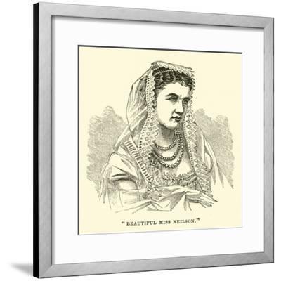 """""""Beautiful Miss Neilson""""--Framed Giclee Print"""