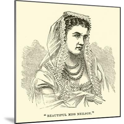 """Beautiful Miss Neilson""--Mounted Giclee Print"