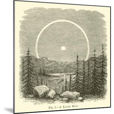 A Lunar Halo--Mounted Giclee Print
