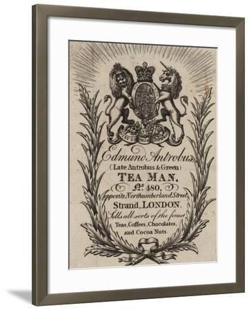 Tea Man, Edmund Antrobus, Trade Card--Framed Giclee Print