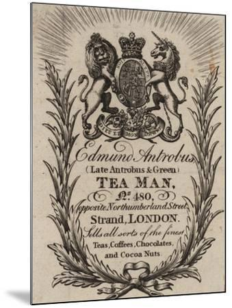 Tea Man, Edmund Antrobus, Trade Card--Mounted Giclee Print