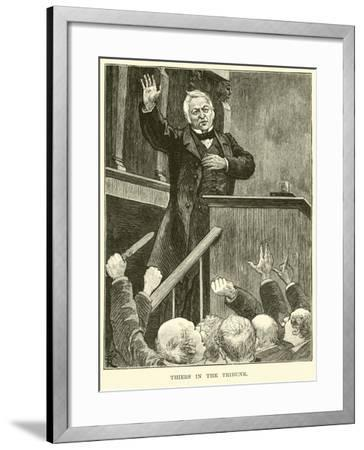 Thiers in the Tribune--Framed Giclee Print