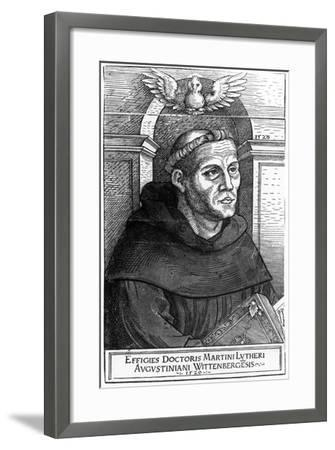 Martin Luther as Augustinian Friar, 1520-24-Lucas the Elder Cranach-Framed Giclee Print