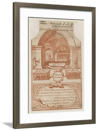 Stationers, Trade Card--Framed Giclee Print