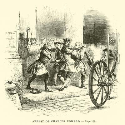 Arrest of Charles Edward--Framed Giclee Print