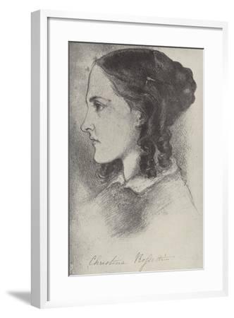 Christina Rossetti, English Poet-Dante Gabriel Rossetti-Framed Giclee Print