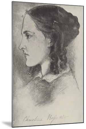 Christina Rossetti, English Poet-Dante Gabriel Rossetti-Mounted Giclee Print