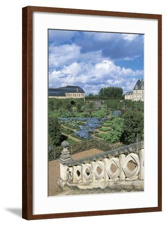 Chateau De Villandry and Gardens, Loire Valley--Framed Photographic Print